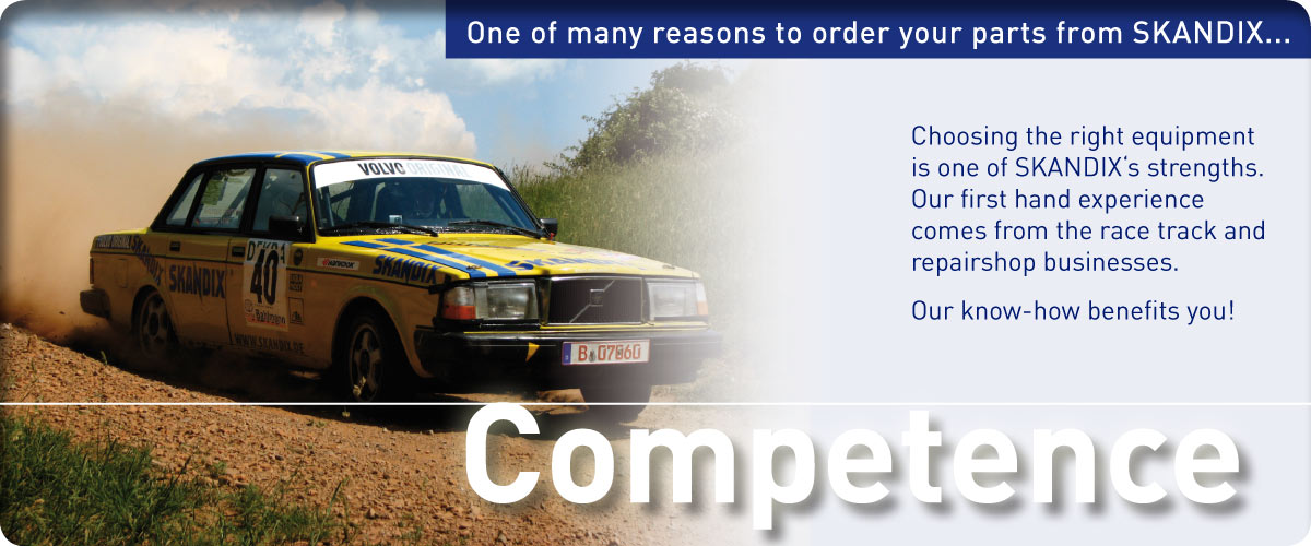 One of many reasons to order your parts from SKANDIX ... Competence